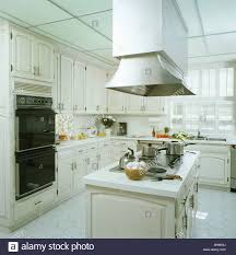 modern kitchen extractor fans large extractor fan above hob in island unit in modern white city
