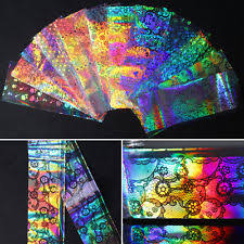 paper holographic nail art supplies ebay