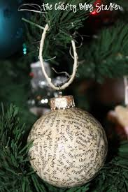 how to make handmade book print ornaments