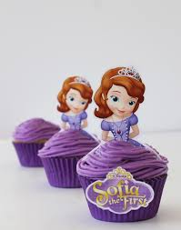 sofia princess blueberry cupcakes free printables