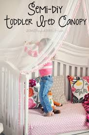 Toddler Bed With Canopy Semi Diy Scarlette S Crafty Canopy Bed Diy Toddler Bed