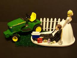 deere cake toppers grass cutting and groom w diecast deere lawn mower