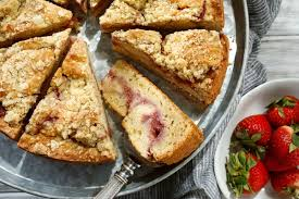 strawberry sour cream streusel cake recipe nyt cooking
