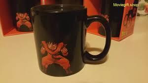 kaioken goku heat reactive color change coffee mug youtube