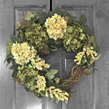 hydrangea wreath hydrangea wreaths everyday wreath from refinedwreath on etsy