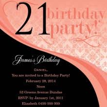 21st birthday party invitations from impressive invitations
