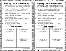 prime and composite numbers interactive notebook tpt
