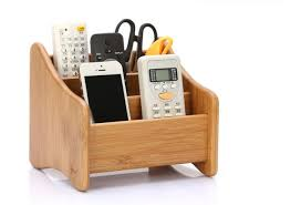creative storage brief bamboo solid wood remote control storage box creative wood