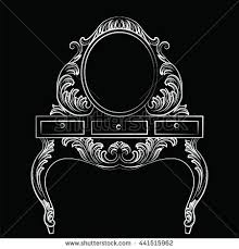 vector baroque furniture dressing table stock vector