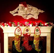 my arkansas razorback christmas mantel i u2022made u2022that pinterest