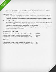 Sample Of Nursing Assistant Resume nursing resume sample u0026 writing guide resume genius