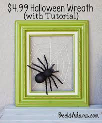 becki adams halloween wreath with tutorial