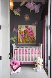 Pink And Brown Nursery Wall Decor Delightful Pink Black And White Baby Nursery Room Decoration Using