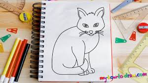 how to draw a cat easy step by step drawing lessons for kids