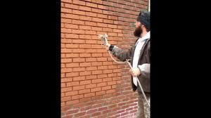 painting brick exterior quality painting techniques youtube