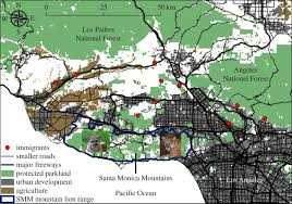 Greater Los Angeles Map by Interactions Between Demography Genetics And Landscape