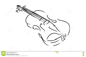 violin drawing stock vector image of elegance silhouette 25681251