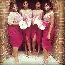 burgundy bridesmaid dresses naija burgundy bridesmaid dresses white lace top