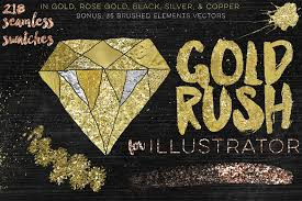 gold rush for illustrator palettes creative market