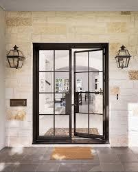 Steel Exterior Doors With Glass Black Steel Front Door Pilotproject Org