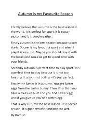 Why Fall Is The Best Season My Favourite Season Year 4 Barrington Public