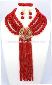 fashion beads necklace images Fashion nigerian beads necklaces bracelet earrings african beads jpg