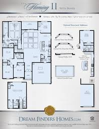 Single Family House Floor Plans by Fleming Ii W Bonus Dream Finders Homes