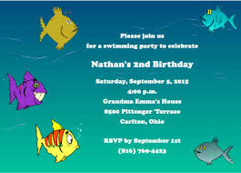 fish birthday party invitation fishing buddies