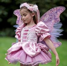 2014 fashion fancy dress costumes with butterfly wings girls party