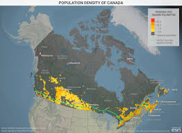 Map Of Canada With Cities by Population Density Of Canada Geopolitical Futures