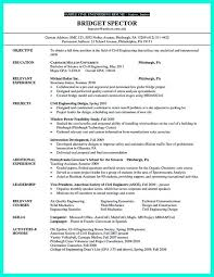 civil engineer resume entry level engineering cv template