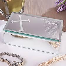 baptism jewelry box communion blessing engraved mirrored storage box communion