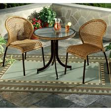 Wicker Bistro Table And Chairs Patio Bistro Tables Betterimprovement