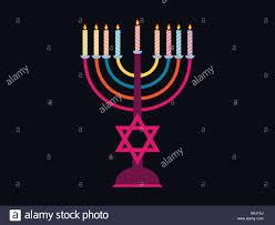 hanukkah candles colors hanukkah candelabra stock photos hanukkah candelabra stock