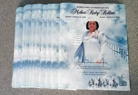 funeral program printing services large tabloid funeral programs printing with custom design yelp