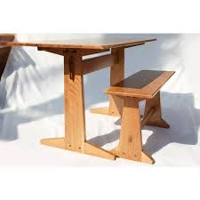 Japanese Style Desk Japanese Style Trestle Table U0026 Bench A Pair Chairish