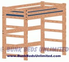 Twin Loft Beds Plans by Loft Or Bunk Bed Plan Tall Extra Long Twin