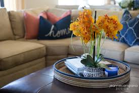 Living Room Without Coffee Table by Before And After Coastal Family Room Makeover Jeanne Campana Design