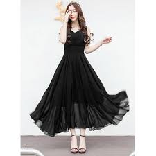dress pic 70 on raabta fashion black plain maxi dress for women on