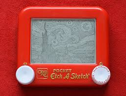 artist draws impressive recreations of iconic paintings on an etch