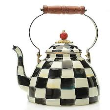 mackenzie childs l mackenzie childs hand decorated enamelware tea kettle