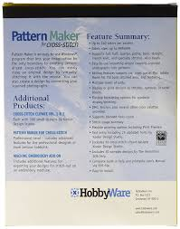 Home Design Studio Pro Manual Pdf by Amazon Com Hobbyware Pattern Maker Cross Stitch Software