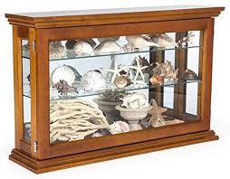 curio cabinet with light displays2go wall or countertop wood curio cabinet with adjustable