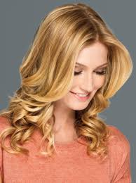 soft curl hairstyle lob with face framing layers and soft curl haircut women s