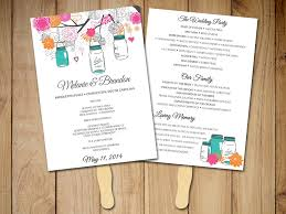 paper fan wedding programs wedding fan template fan program template diy wedding