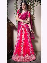 color heavy embroidery work bridal lehenga choli colour combination