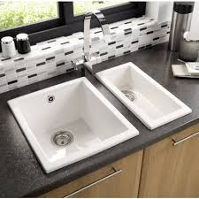 inset sinks kitchen astracast onyx 1 0 ceramic undermount inset sink gloss white