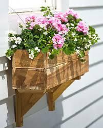 teak window boxes medium in 3 lengths buy from gardener u0027s supply