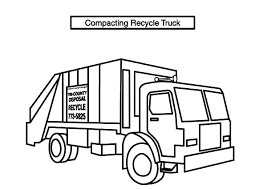 pic photo garbage truck coloring coloring book