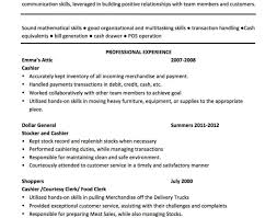 Resume Sles For Cashier Exles Of Cashier Resume Unforgettable Part Time Cashiers